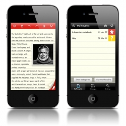 The official Moleskine iPhone and iPad app (free)