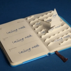 Very creative spot in stop-motion for Moleskine Mini Planners. Directed by Rogier Wieland.