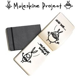 The Moleskine Project is looking for user submitted artwork, so go scan a page from your moleskine notebook and send it in...