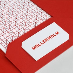 Cute stationery set for architect studio Møller/Holm. Designed by Jesse Mallon.