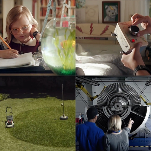 Meet Molly, the Kid Who Never Stops Inventing - GE Commercial - such a smart, fun, playful and inspiring ad!