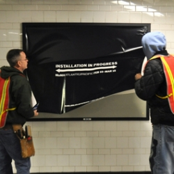 MoMA is up to something at the Atlantic Ave subway station in Brooklyn.
