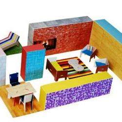 MoMA Modern Play House -- Create a delightfully modern house with this innovative set of modular nesting boxes! Aspiring architects and designers of all ages can create modern spaces.