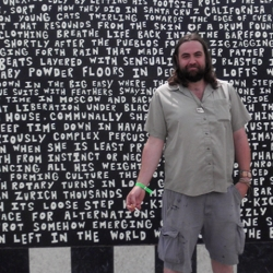 The Mural of Memorable Moments in Dance - poetry installation by Daniel Patrick Helmstetter at The Governors Ball 2011 - with time lapse video by James Ogle.