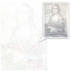 Thomas Pavitte turns Mona Lisa into a 6,239 connect the dot drawing~ nice video and pics.