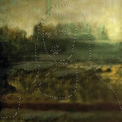 'Selected' is a series of animated gifs by Mike Guppy, in which the subjects of well-known paintings have been removed with a 'marching ants' outline similar to the ones you'd see in GIMP or Photoshop.