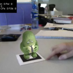 Favorite use of Augmented Reality in the print+webcam so far ~ Boffswana's adorable green monster ~ see the video and try it yourself!