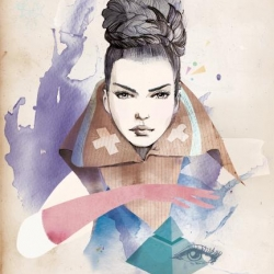 Monsieur Qui or in English Mister Who is a French illustrator / street Artist. His fashion illustrations are beautiful and you can find them all over the Parisian walls