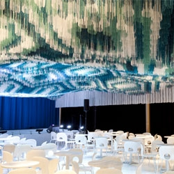 Serie Architect's installation at the Kennedy Centre for the Performing Arts, Monsoon Club, opens in Washington D.C. for the Maximum India Festival.