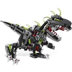 Monster Dino, the latest addition in the LEGO Creator family, has moving parts and a glow-in-the-dark spine.
