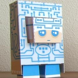not been enough papertoys of late ... Marshall Alexander can add to your monster army with his Foldschool heroes