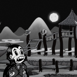 Trigger's Monster Playground is an inspiring example of how to use parallax scrolling in a browser to tell a story. It's short and sweet, with 10 Halloween Easter eggs to find.
