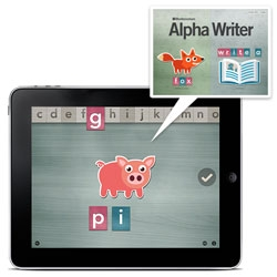 Montessorium ~ in addition to the Math and Letters apps, there is now Alpha Writer! Perfect for the little kids in your life...