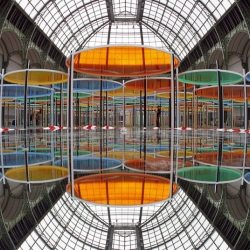 Artist Daniel Buren's kaleidoscopic canopy takes center stage at Paris's Grand Palais for the 2012 Monumenta exhibit.