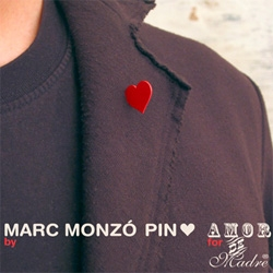 Vday is coming up ~ wear your heart on your sleeve or lapel with this cute subtle pin by Amor de Madre