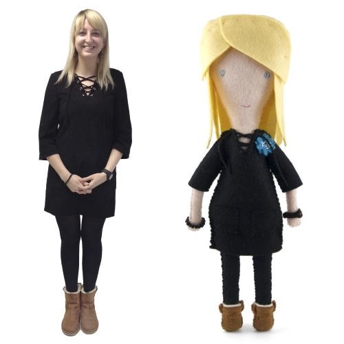 MOO.com enlists the 'feltician' Eleni Creative to turn 100 employees into dolls for their work anniversaries.