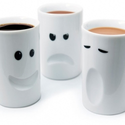 Mood Mugs by Thabto are a range of hand made, double wall porcelain mugs designed to reflect your mood.