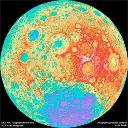Astronomers at Arizona State University have used NASA's Lunar Reconnaissance Orbiter (LRO) to build this high-res topographic map of the Moon.