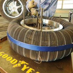 Goodyear spring tire developed in conjunction with NASA for the lunar rover.