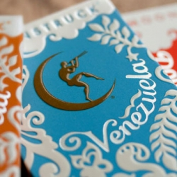 Great packaging for Moonstruck Chocolate of Portland, Oregon by Sandstrom Partners.