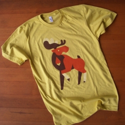 The latest animal tee design from Always With Honor: The Moose