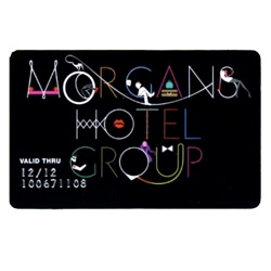 Fun new design for the Morgan's Hotel Group relaunched Global Card along with their new benefits at their hotels across the world.
