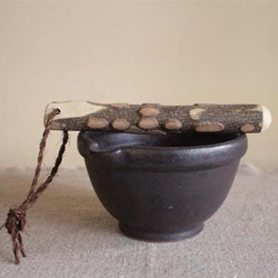 """Suribachi Mortar and Surikogi Pestle from the new online shop Yaginoyama, which offers """"Japanese goodness for the non-Japanese world."""" Yaginoyama is the only international source for most of their products."""