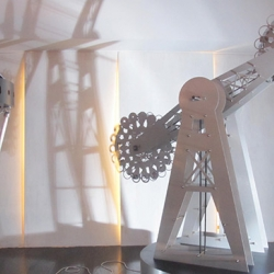"Cathy McClure's Ferris Wheel and Carousel in ""Midway"" at the Moss Bureau"