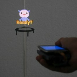 The MotionBeam project explores the use of handheld projectors to interact and control projected characters. Collaboration between Disney Research and the Carnegie Mellon Computational Design Lab.