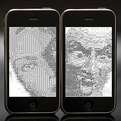 Original javascript ascii animation for text addicts on the iphone.