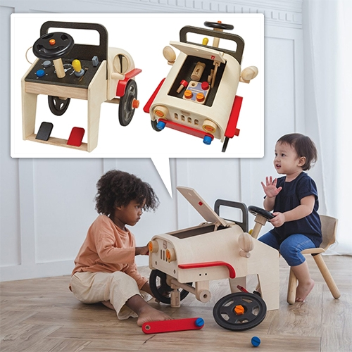 PlanToys Motor Mechanic - a wooden set for the kids who want to wrench alongside you
