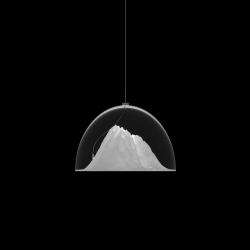 The new lamp with mountain landscape plafond by iF Product Design Winner 2012 - russian designer Dima Loginoff.