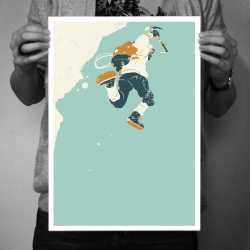 one of three new outdoorsy illustrated prints - explorers, hunters and mountaineers ahoy!