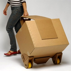 Move-it is a DIY kit and a makeshift trolley that will help you cart your load of shopping, when you walk back home.