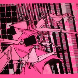 Mark Price's works on paper present dark scenarios of technological chaos and deconstruction.  Opening at GLOWLAB in NYC