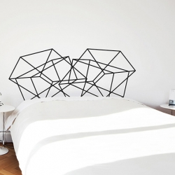 Stockholm adhesive headboard by mpgmb - Collection of 12 decals inspired by the minimalist, yet often bold and playful, signature of Scandinavian graphic design.