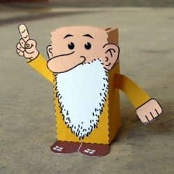 Just in time for the hardcover collection of the comic, over at the Toy-a-Day blog you can download a PDF to print out and assemble this adorable papercraft toy of R. Crumb's Mr. Natural.