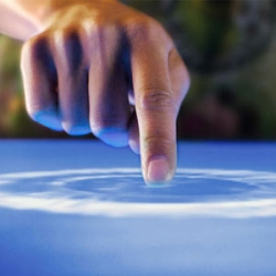 Microsoft's new multi-touch augmented reality computer called Surface.