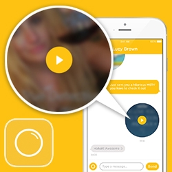 MSTY (My Song To You) - Mobile music messaging app that just launched. Send friends a song + picture + caption! Love how the messages look like little records.