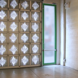 A recent Doomsday installation at Wild Project, in Manhattan, by artist Ryan Wallace. Each window has a work in it that includes the predicted date of the end of the world, from the distant past to the near future. 