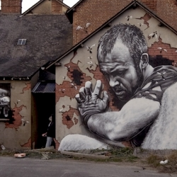 German street artist MTO recently stopped by France and completed two pieces entitled The legend of Fred Ille & Gwen Vilaine.