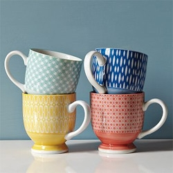 Cute prints on these Modernist Mugs at West Elm