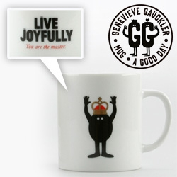 Genevieve Gauckler Mugs for Publik ~ Live Joyfully, You are the master!, Throwing The Balls, and Path To Success.
