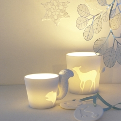 Beautiful Mugtail, designed by Kinto, can be used as a mug or candle holder to complete your fairy 'tail' story.