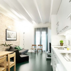 Whotells and Muji team up to offer well designed short stay apartments in Barcelona.