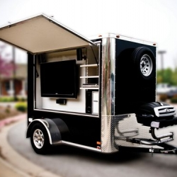 Multimedia Trailer by Tailgating Innovations - may cause one to live in their driveway.