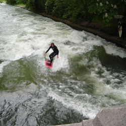 A brief overview and series of images on a river surfing spot in Munich. [Editor's Note: this was also the subject of #3555]