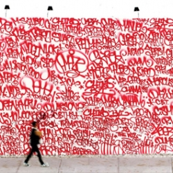 Barry McGee's mural at Houston Street and Bowery, New York, 2010