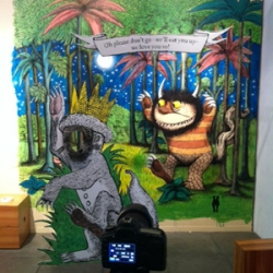 W+K 12 painted a Maurice Sendak (1928-2012) tribute mural yesterday. Today we turned it into a photo booth to let everyone channel their inner MAX.