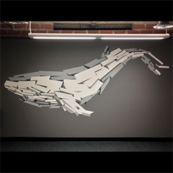 Rubble Whale Mural by Richard Moore.